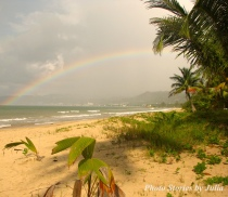 The most beautiful rainbow appeared on our family beach in Aguada 6