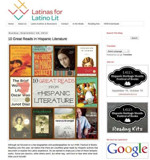 Latinas for Latino Lit