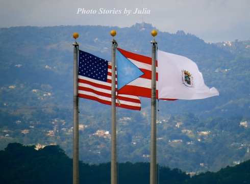 P.R. Flags at La Fortaleza