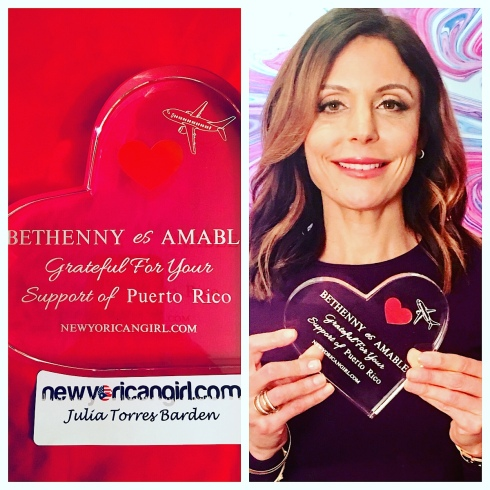 NYG AMABLE Award Bethenny Frankel